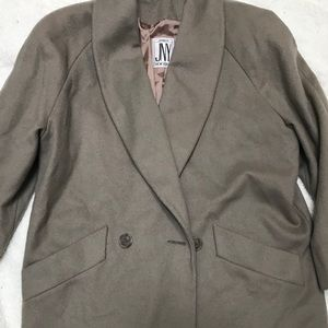 NWT JONES NEW YORK 100% Wool Coat Jacket Peacoat L